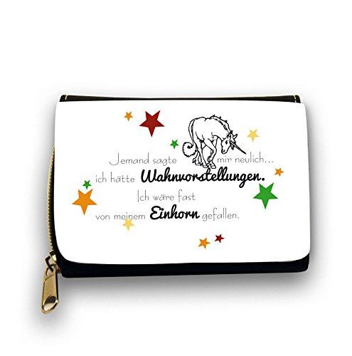 Portemonnaie-Geldbrse-Brieftasche-schwarz-mit-Einhorn-Spruch-und-Sternen-Mdchengeldbrse-gk09