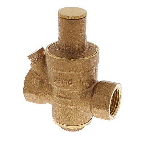 """Homyl DN 15 (G 1/2 """") Wasserdruckminderer Wasserregler Druck Ventil Kompatibel mit allen US-Wasserquellen"""