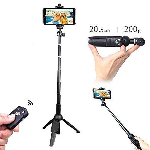 Selfie Stick, yoogoal 3 in 1 Stange Selfie Stativ mit Bluetooth-Fernbedienung Selfie-Stick 360 Rotation Phone Halterung Kompatibel mit iPhone X 8 7 Plus 6 6S Plus Samsung Note 8 S8 S7-Handys