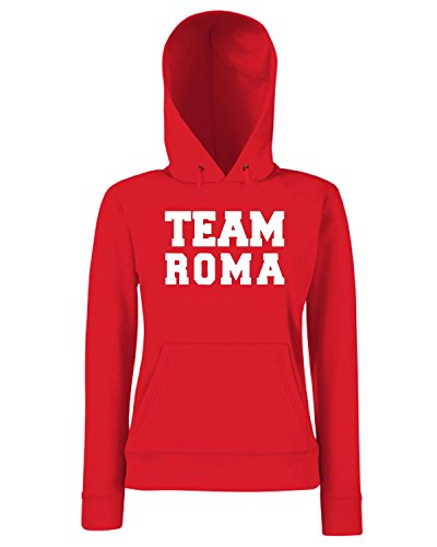 T-Shirtshock - Sweats a capuche Femme OLDENG00782 team roma Rouge