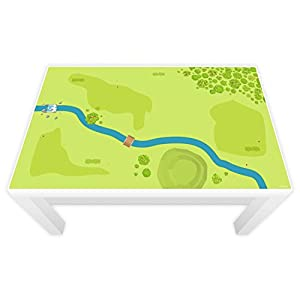 nikima Schönes für Kinder Spielfolie für Lack Tisch 89 x 54 cm Wald & Wiese (Möbel Nicht Inklusive)