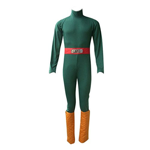 Dream2Reality japanische Anime Naruto Cosplay Kostuem -Rock Lee 1st Ver Kid Size Large