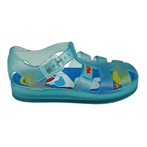 Blau Weiß Lollipop (Die Eiskönigin Disney Badeschuhe/Gummisandalan mit Olaf Druck für Mädchen - Blau - Gr. 25)