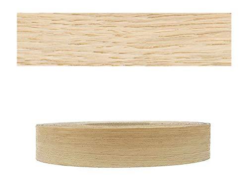 Mprofi MT® (10m Rolle) Echtholz Kantenumleimer Umleimer Furnier Eiche europ. SK mit Schmelzkleber zum Aufbügeln 22mm Breite HR1022