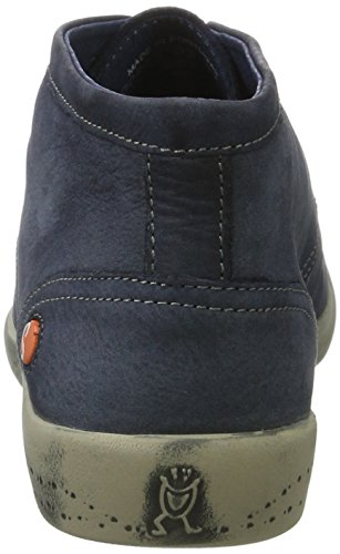 Softinos Damen Indira Washed Chukka Boots Blau (Navy)