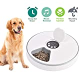 Automatic Pet Feeder for Cats Dogs Rabbits & Small Animals,6 Meal Trays Dry Wet Food Water Auto Feeder, with LCD Display Programmable Digital Timer,Portion Control Food Dispenser Feeder