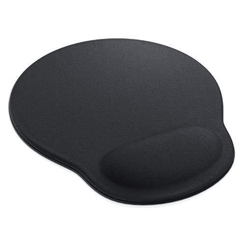 CSL - Alfombrilla para ratónOffice Comfort Mousepad | ergonómica de gomaespuma | con Reposo para muñeca | Alivio para la muñeca Durante Trabajos prolongados al Ordenador | Negro