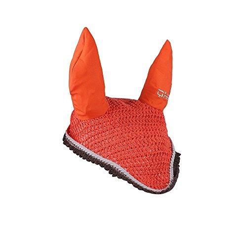 Knallige Fliegenohren, Fliegenhaube für Schutz vor Fliegen Shetty bis Full, Groesse:FULL, Farbe:orange