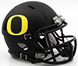 Oregon Ducks Matte Black Revolution Speed Mini Football Helmet by Riddell