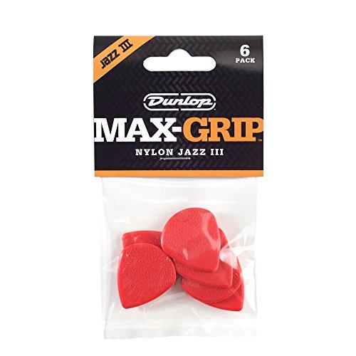 Jim Dunlop 471P3N Jz-6 Nylon Max Grip Guitar Pick in Player Pack