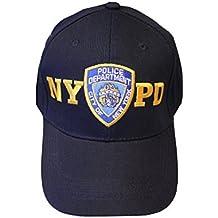 NYC FACTORY NYPD gorro de béisbol departamento de policía de Nueva York Azul Marino y dorado Talla única