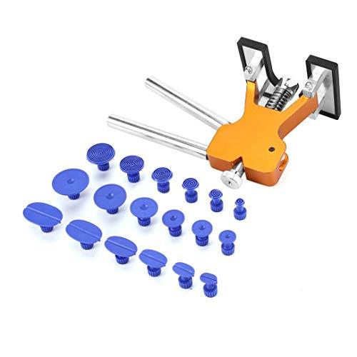 Mollack Heber-Kleber-Abziehvorrichtung, Paintless Auto Body Dent Removal Repair Tools Kit + 18 Stücke Kleber-Puller-Laschen für Auto Hagelschaden Reparatur Automotive Dent Lifter