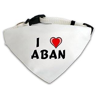 Dog Bandana with I love Aban (first name/surname/nickname)