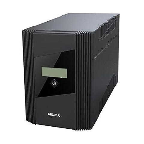Nilox Line Interactive Soho Unterbrechungsfreie Stromversorgung UPS, 1500VA/900W, Display LCD, 4Ausgänge, USB, RJ11oder RJ45, schwarz