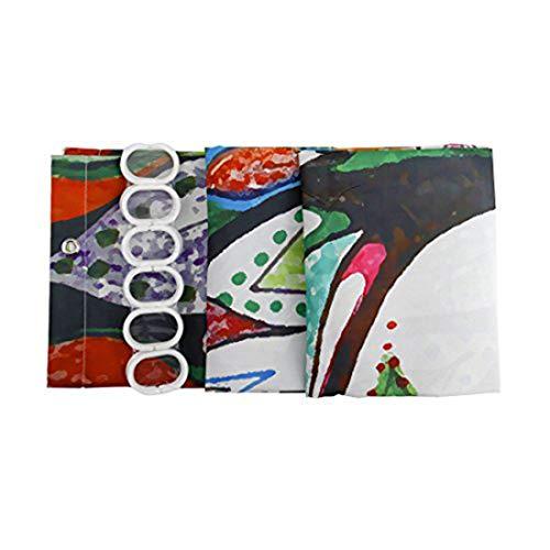GWELL Duschvorhang mit Digitaldruck inkl. 12 Duschvorhangringe 180x200cm - 3