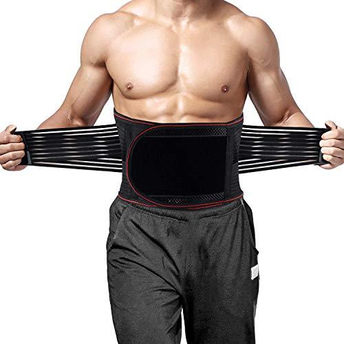 ZOUYUE Rückenbandage, Rückenstützen mit verstellbare Zuggurte und atmungsaktiver Nylonstoff, für Arbeitsschutz entlastet die Rückenmuskulatur und zur Haltungskorrektur, Größe 2XL