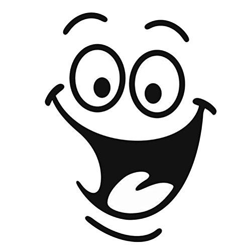 5 pcs drôle grande bouche autocollant de sourire de sticker pour le mur de toilette salle de séjour chambre à coucher de cuisine décoration de maison