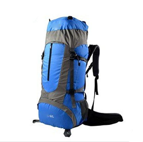 Bergsteigen Tasche Outdoor Sport Rucksack Männer Und Frauen Walking Rucksack Wasserdicht 60L Camping Rucksack,Red Blue