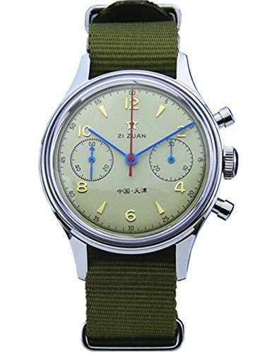 6ce222ac7a5d Seagull ST19 Movt Wrist Watch Mens Pilot Chronograph Mechanical Acrylic  Exibition caseback
