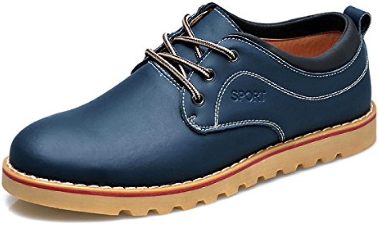 Herbst Herren Casual Lederschuhe Leder Jugend Lace Up Herrenschuhe Mode England Atmungsaktive Schuhe