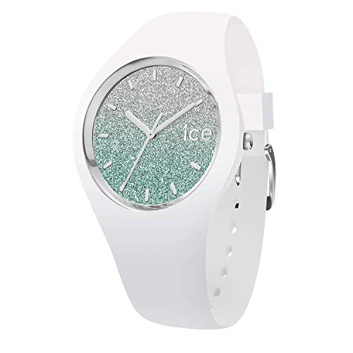 Ice-Watch - Ice lo White Turquoise - Weiße Damenuhr mit Silikonarmband - 013426 (Small)