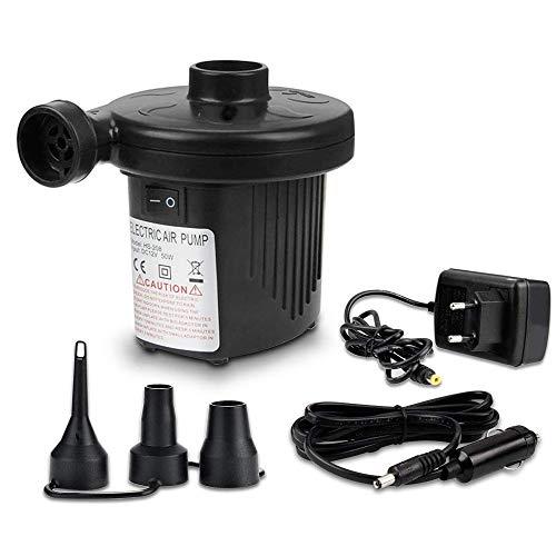 Pompe à air électrique, Home Neat Pompe électrique avec 3 embouts pour matelas gonflables Tube de Bateaux, matelas, ou de camping sur de et dégonflage DC12 V/AC 220 V automatique et rapide.