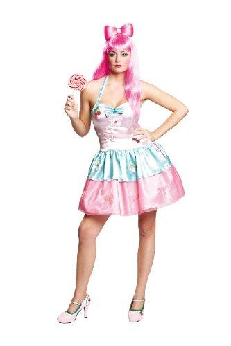 Karneval Damen Kostüm sexy Candy Girl verkleiden an Fasching (Erwachsene Candy Für Kostüme)