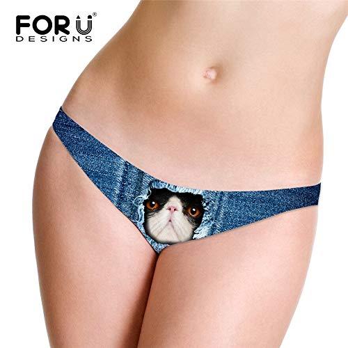 GZGJNK Sexy 3D Jeans Cat Frauen Slips Öffnen Transparente Höschen Für Mädchen Frau Thongs G String Satin Höschen Mujer