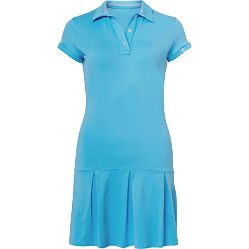 Sportkind Mädchen & Damen Tennis / Hockey / Golf Polokleid, hellblau, Gr. 134 (Tennis-mädchen-kleid)