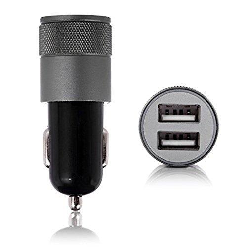 Naisicatar App Car Charger Metall-App Dual USB Car Charger Aluminium Dual Port Kabel Ladegerät Auto Black - Dual-port-usb-kabel