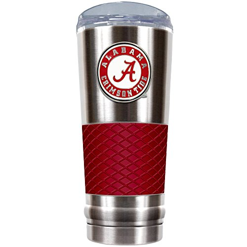 Great American Products NCAA Alabama Crimson Tide Draft Tumbler, 61 ml, Silber/Rot Great American Products Tumbler