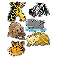 90 x Jungle Animals Kids Stickers - Designs include giraffe, lion, ape, zebra, hippo, tiger