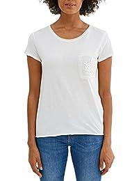 edc by Esprit 037cc1k007, T-Shirt à Manches Longues Femme