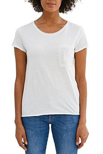 edc by ESPRIT Damen Langarmshirt 037CC1K007, Weiß (Off White 110), 44 (Herstellergröße: XX Preisvergleich