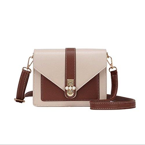 GJ Crossbody Bag - Damen Schulter Rucksack Portable Umhängetasche PU Pink Freizeit Tasche Fashion Lady Taschen