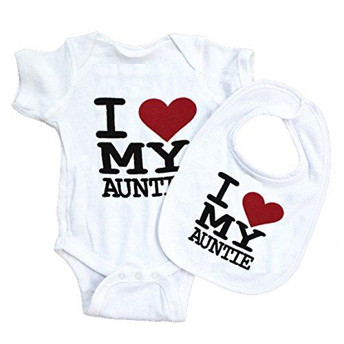 Funny algodón I love mi tía body para bebé baberos Grow regalo no t