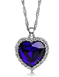 Ananth Jewels Swarovski Elements Blue rhinestone Pendant For Women