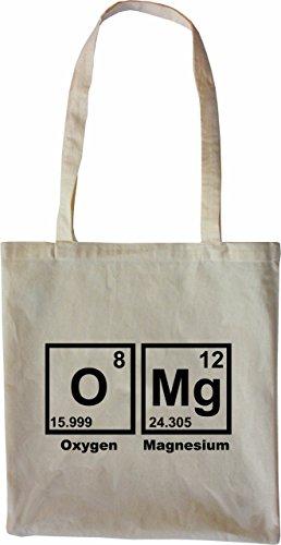 Mister Merchandise Tasche OMG Periodentafel Chemistry Mathe Nerd Math Stofftasche , Farbe: Schwarz Natur