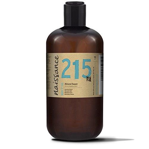Naissance Mandorle Dolci Puro 500ml – Vegan, senza OGM – Ideale per la cura della Pelle e dei Capelli, l'Aromaterapia e come olio da Massaggio di base