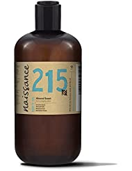 Naissance Pure Sweet Almond 500ml - Vegan, No GMO - Ideal for Haircare and Skincare, Aromatherapy and as a Massage Base Oil