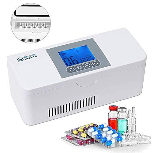 LH&BD Insulinkühler, 2-8 ° C Tragbarer Autokühlschrank/Kleiner Koffer Für Auto, Reise, Heim Für Augentropfen/Interferon/Drogenspeicher Smart Long Standby 8H