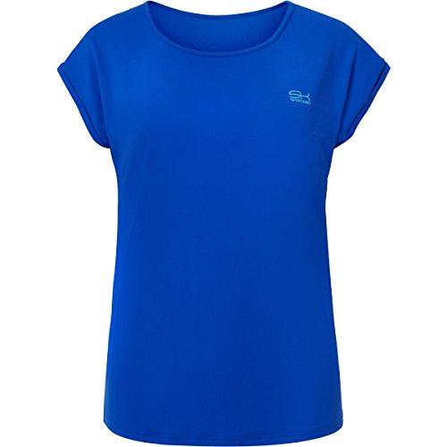 Sportkind Mädchen & Damen Tennis / Fitness / Sport Loose Fit T-Shirt, kobaltblau, Gr. XL