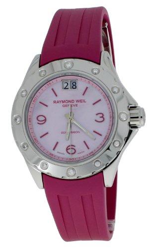 Raymond Weil - 6170-SR4-05997 - Montre Femme - Quartz - Analogique - Bracelet Caoutchouc Rose