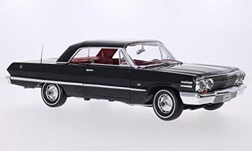 chevrolet-impala-hardtop-coupe-schwarz-1963-mastab-118-metall-kunststoff-fertigmodell-welly