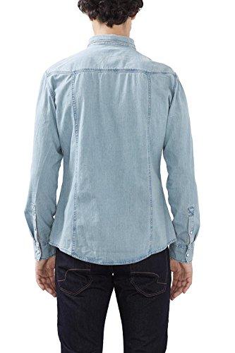 edc by Esprit 116cc2f010, Chemise Casual Homme Bleu (blue Medium Wash 902)