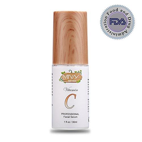 AMTOK Vitamin C Serum für Gesicht, Bio-Anti-Aging Topical Gesichts Serum mit Hyaluronsäure, 30 ml. (Behandlung Gerne Stellen)