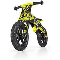 Madera Bike Balance niños del muchacho / bicicleta de entrenamiento para niños de 12 '', Duplo / tirón: construcción amarillo