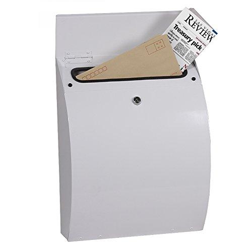 Phoenix Curvo Mb0112kw Chargement par Le Dessus Boîte à Lettres en Blanc avec Serrure à clé