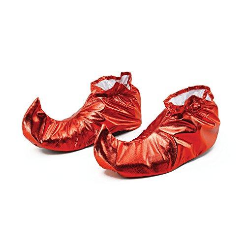 Bristol novità BA628giullare copriscarpe rosso metallizzato, taglia unica