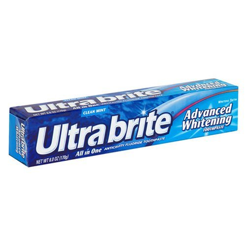 Ultra Brite Advanced Whitening Anticavity Fluoride Toothpaste, Clean Mint Flavor, 6 oz. .(Pack of 12) (Zahnpasta)